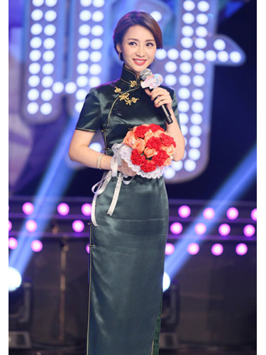 dark green cheongsam