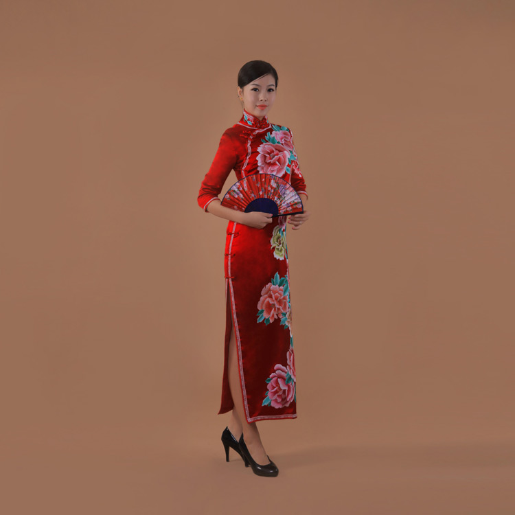 red cheongsam