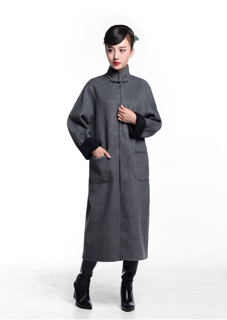 Gray cashmere overcoat