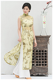 yellow ao dai