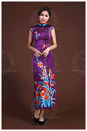 purple qipao/cheongsam