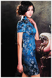 Light blue qipao