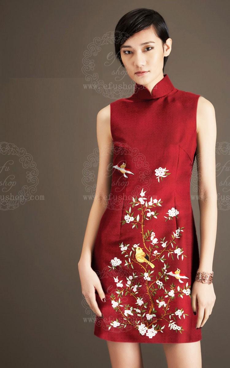 Thai silk long sleeve dresses