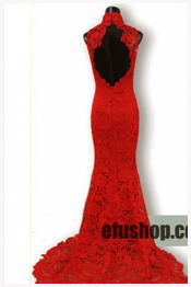 Red wedding qipao