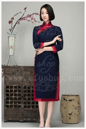 Dark Blue qipao