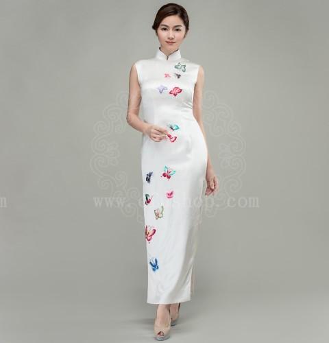 White Chinese Dress