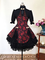 Black China style lolita dress