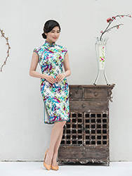 Chinese wedding Colorful qipao