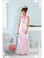 Pink plum modern cheongsam SMS68