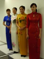 Four hand  painted cheongsam