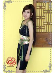 Spaghetti straps cheongsam dress SMS78
