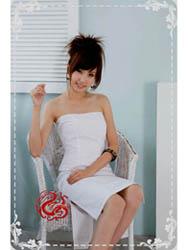 White cotton dress SMS50