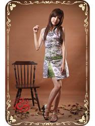 Modern cheongsam dress SMS33