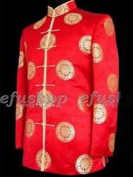 Red chinese men's jacket