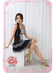 Modern cheongsam dress sms60