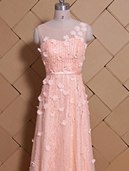 Pink western cooktail dress