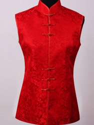 Red dragon silk brocade waist CCW23