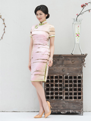 Pure silk daily lady cheongsam