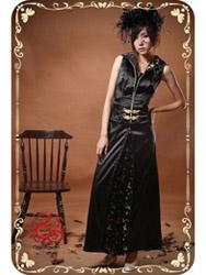 Black modern cheongsam dress SMS61