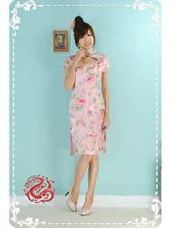 Pink peony cheongsam dress SMS67