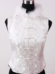 White dragon feathered waist CCW21