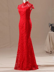 Red lace cheongsam SCL03