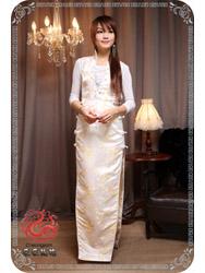 Light golden plum modern cheongsam SMS52