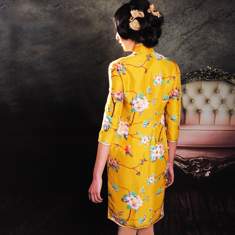 yellow Spring qipao