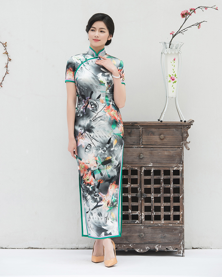 Lily long cheongsam