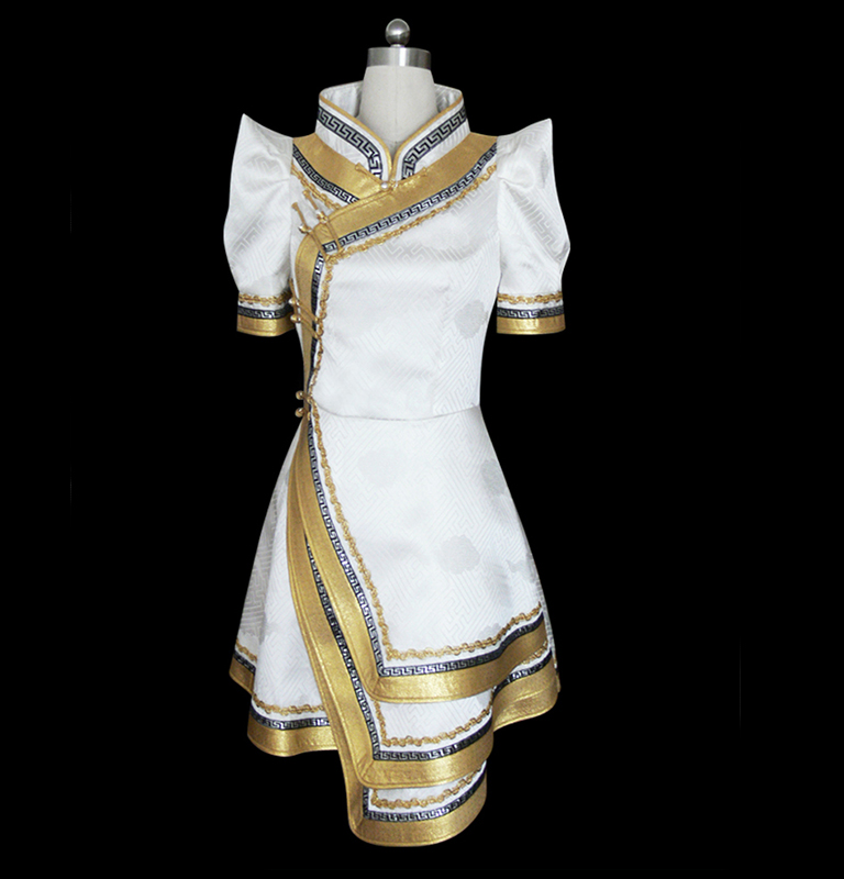 Golden mongolia dress