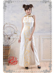 Phoenix tail brocade dress SMS87