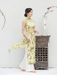 Gold sequins muslin Aoya