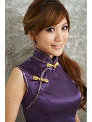 Purple qipao SMS79