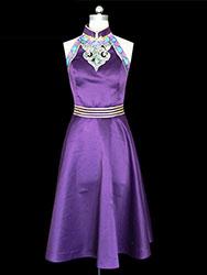 Purple  Mongolia dress