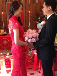 Ngoc Buu Ha's wedding dress