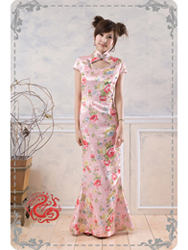 Pink cheongsam dress SMS64
