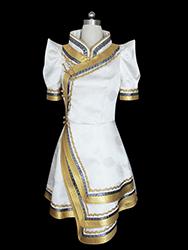 Short golden mongolia overcoat