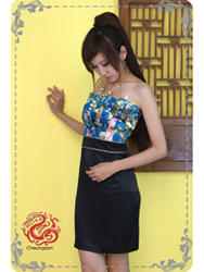 Blue with black dress SMS21