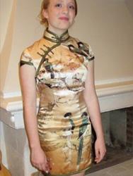 Jennifer Matthew's qipao