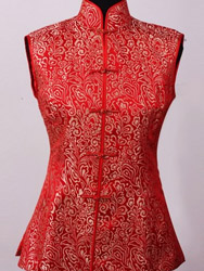 Red brocade women waist CCW24