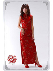 Red cheongsam dress SMS13