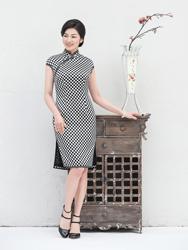 Classic black&white cheongsam