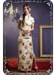 Peony brocade cheongsam dress SMS88