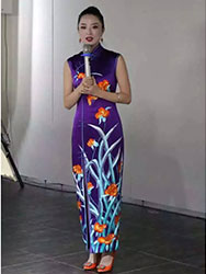 Miss Guo's embroidered cheongsam dress